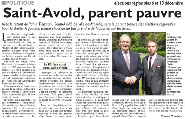 RL 08.11.15 - SA, parent pauvre