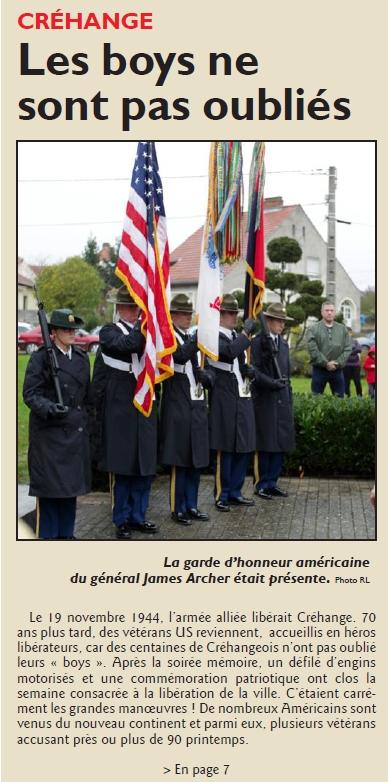 RL 25.11.14 - Libération Créhange (1ere page)