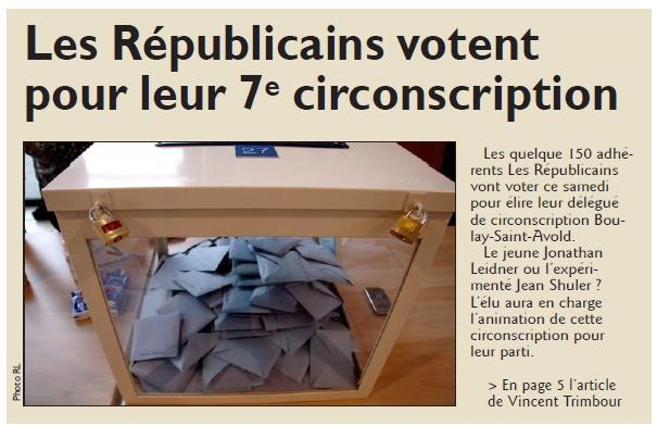 RL 30.01.16 - Les Républicains votent pour leur 7E circonscription